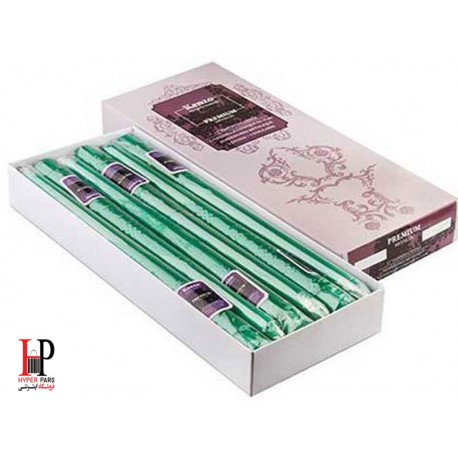 شمع قلمی کنزو رنگ سبز متالیک سایز 30 سانتی متر