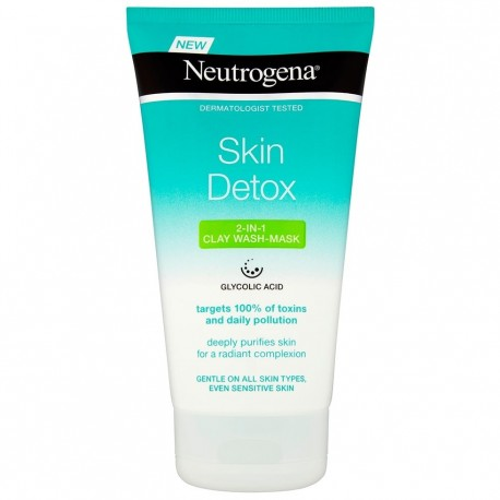 ماسک و پاک کننده صورت نوتروژینا Skin Detox حاوی خاک رس حجم 150 میل