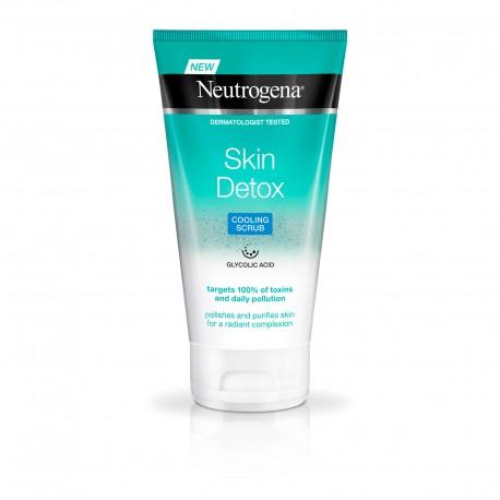 ژل اسکراب خنک کننده صورت نوتروژینا مدل Skin Detox مناسب انواع پوست 150 میل
