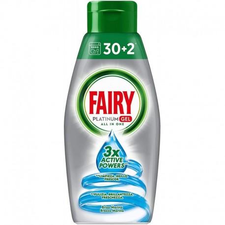 ژل ماشین ظرفشویی پلاتینیوم فیری با رایحه نسیم دریا Fairy