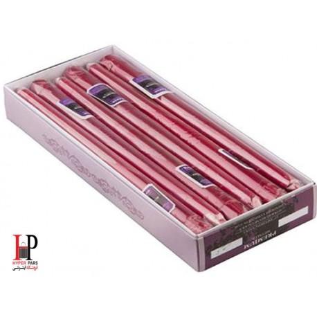 شمع قلمی کنزو رنگ قرمز متالیک سایز 30 سانتی متر