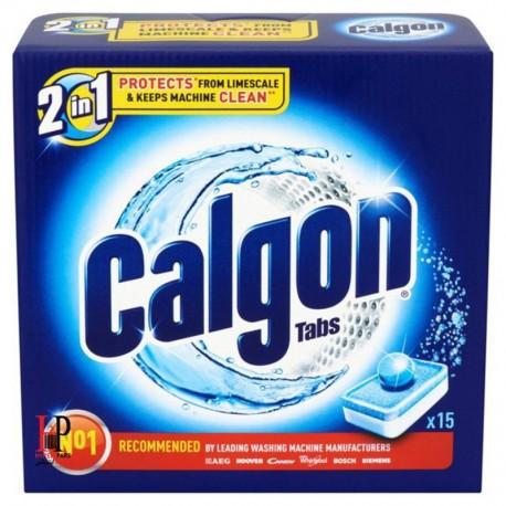 قرص جرم گیرماشین لباسشویی دو در یک 15 تایی کلگون Calgon