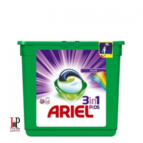 کپسول ژله ای 3 در 1 ماشین لباسشویی آریل مخصوص لباس های رنگی 23 تایی Ariel