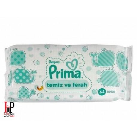 دستمال مرطوب تمیز کننده کودک 64 تایی پریما پمپرز Pampers