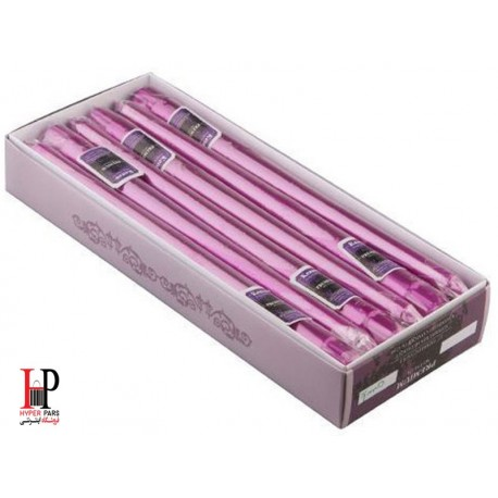 شمع قلمی کنزو رنگ یاسی متالیک سایز 30 سانتی متر