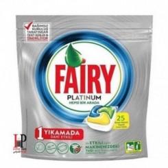 قرص ماشین ظرفشویی پلاتینوم لیمویی 25 عددی فیری (Fairy)