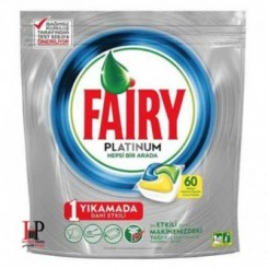 قرص ماشین ظرفشویی پلاتینوم لیمویی 60 عددی فیری (Fairy)