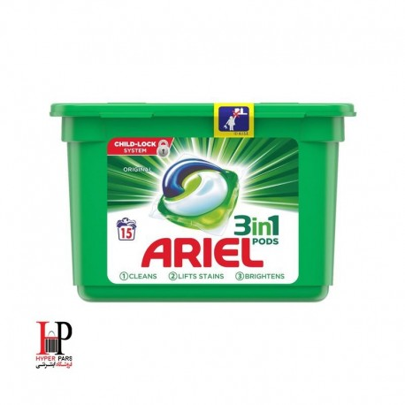 کپسول ژله ای ماشین لباسشویی آریل 15 عددی(ARIEL)