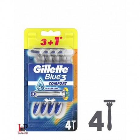 خودتراش ژیلت BLUE3 COMFORT تعداد 4 عددی( GILLETTE)