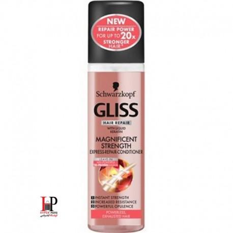 اسپری مو گلیس مخصوص موهای ضعیف strength express repair