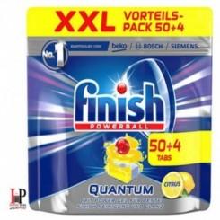 قرص ماشین ظرفشویی فینیش کوانتوم آلمان 54 عددی رایحه لیمو (finish)