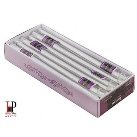 شمع قلمی کنزو رنگ نقره ای متالیک سایز 30 سانتی متر