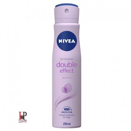 اسپری بدن زنانه نیوا double effect حجم ۱۵۰ میلی لیتر(NIVEA)