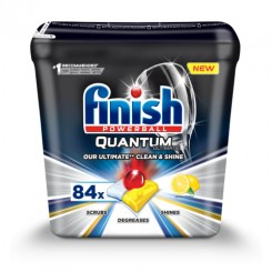 قرص ماشین ظرفشویی کوانتوم لهستانی آلتیمیت لیمویی 84 تایی فینیش (Finish)